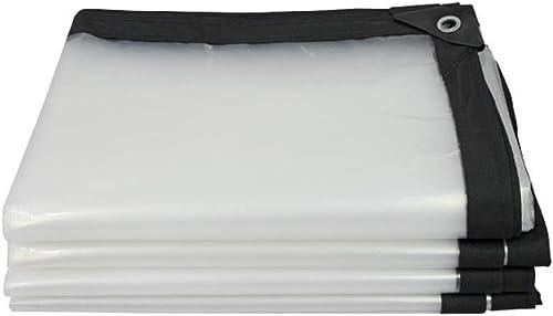 HCYTPL Bache imperméable Transparente, bache Claire avec Oeillets, Tissu en Plastique Clair d'isolation de Serre 120G   M2,5  6m