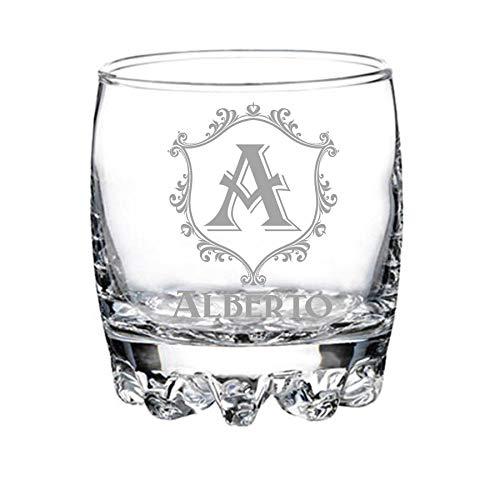 Vaso de whisky personalizado grabado - modelo elegante (9)