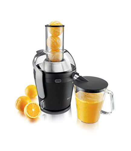 Philips Avance Collection Juicer HR1868/71 - juice makers (Juice extractor, Black, 1.6 L, 1.5 L, 8 cm, 1 m)