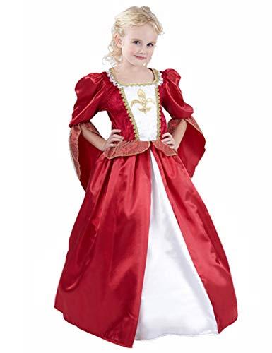 DEGUISE TOI Déguisement Princesse médiévale Effet satiné Fille - L 10-12 Ans (130-140 cm)