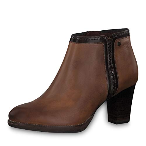 Tamaris Damen Stiefeletten 25347-23, Frauen Ankle Boots, Ladies feminin elegant Women's Women Woman Freizeit leger Stiefel Lady,Maroon,39 EU / 5.5 UK