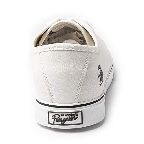 Penguin Mens Blast Plimsolls Sneakers White 9