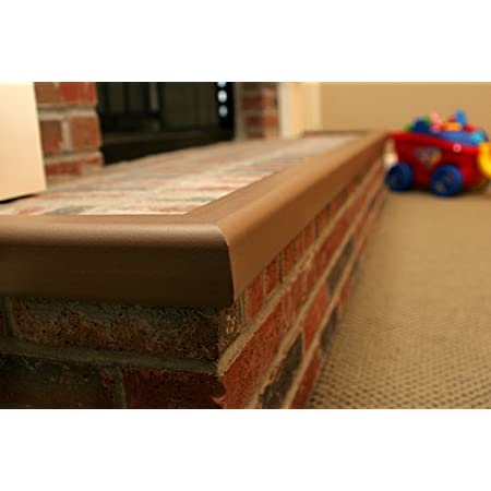 Baby Safety Foam Soft Seat Edge Cushion Fireplace Hearth Guard Bumper Pad Child Proof Padding Small, Brown-fits Width from-0-68