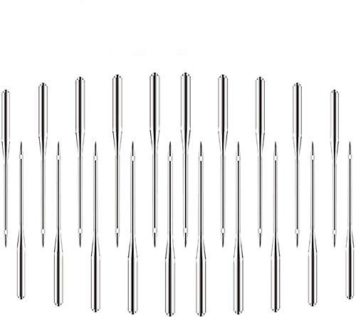 50pcs agujas para máquina de coser, agujas de máquina universales utilizadas para máquinas de coser Singer, Brother, Janome, Varmax, tamaños 65/9, 75/11, 90/14, 100/16, 110/18