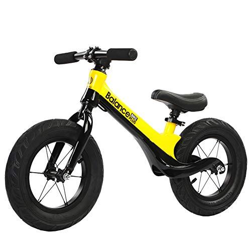 LIDU Magnesiumlegierung Keine-Pedal Balance Bike Sicherheit Fahrrad mit Einstellen Sitz füR Kinder im Alter von 2 Bis 6 Jahre Hohe QualitäT,Yeloow
