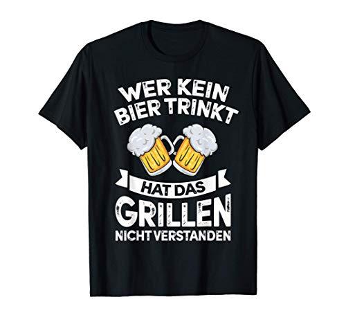 Grillen Tshirt Für Männer Lustig Barbeque Grillschürze BBQ T-Shirt