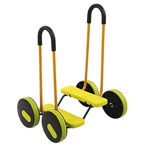 Andador para niños, caminante para niños domésticos, adecuado para niños menores de 10 años, fuerza de ejercicio de la pierna, equipo de ejercicio físico de jardín de infantes
