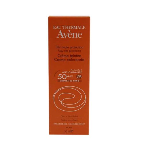 Avene Solar Crema SPF 50+ Coloreada, 50ml