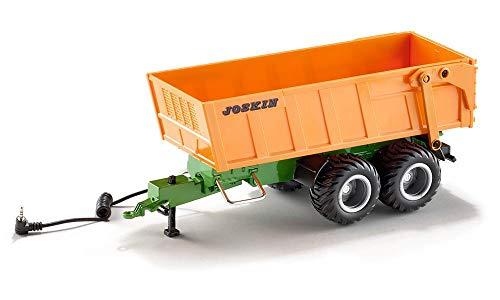SIKU 6780, Tandem-Achs-Anhänger, 1:32, Fernsteuerbar, Für SIKU CONTROL Fahrzeuge mit Anhängerkupplung, Metall/Kunststoff, Orange