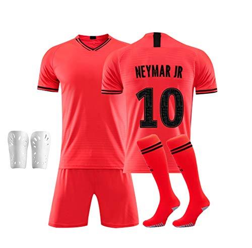 CHSC # 10 Neymar jr fußballverein Jersey Set uniform, Kurzarm Shorts Socke schienbeinschoner Trainingsanzug Tank Tops Weste für Erwachsene Teens Kinder 16-XXL Pink-20