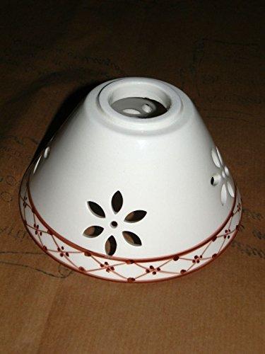 Boule céramique blanche perforée pour et lampadaires applique laiton fer et