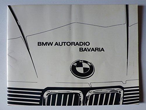BMW Autoradio Bavaria - Betriebsanleitung - Original