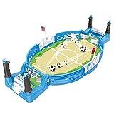 Mini Juegos de fútbol de Mesa de futbolín, Juego de fútbol Deportivo de Mesa portátil, Juguetes educativos interactivos para niños, para niños/Adultos/Familia, 55x28X6CM