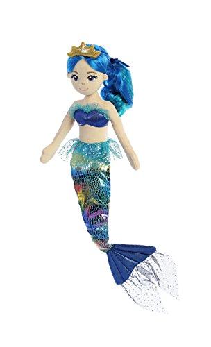 Aurora World Sea Sparkles Mermaid Plush, Rainbow Indigo