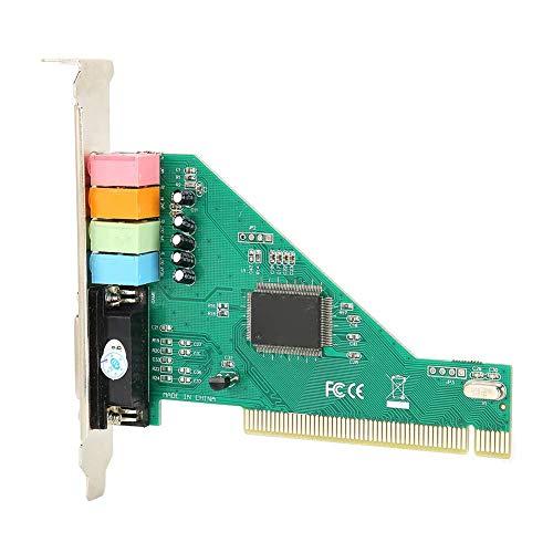 Classic PCI Surround Soundkarte, Kanal 4.1 Desktop Computer integrierte unabhängige Soundkarte mit optischer Disc, Digital Stereo Soundkarte für Win 98/Win 2000/XP/NT Signalspannung