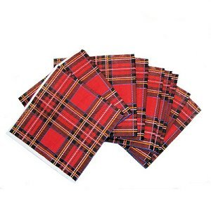 SCOTTISH 20 ROYAL STEWART TARTAN PAPER LUNCH NAPKINS by Party Packs