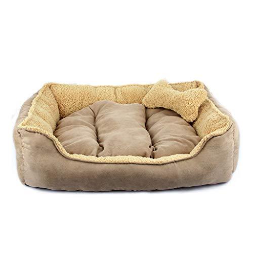 Liuyu hondenhoed, universeel, afneembaar en wasbaar, rechthoekig, klein, velours, middelgroot, voor honden, katten, villa, warm kussen