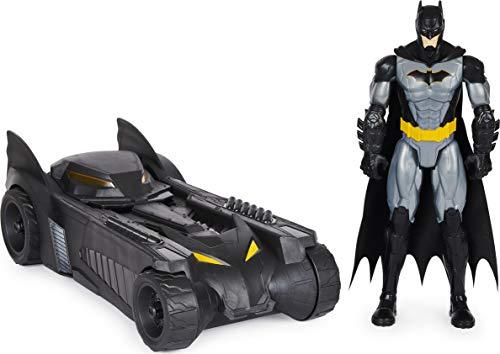 Batman 6058417 - Pack de batería y figurina de Batman de 30 cm de DC Comics – Vehículo Batmobile y Figura articulada de 30 cm