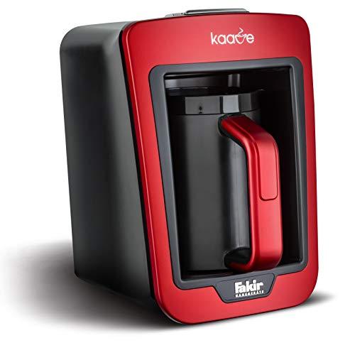 Fakir Kaave 9174003 / Mokkamaschine Kaffeekocher Kaffeebereiter elektrisch , Kunststoff, easy One Touch Steuerung – rot  735 Watt