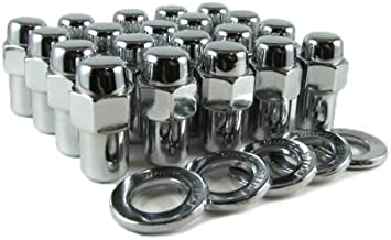 x 20 RH Chrome Plated Steel Closed End 1//2 in Cragar 27780-4: Lug Nuts Set of 4 Shank with Washer