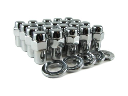 Cragar SST Mag Lug Nut 12mmx1.5 with Center Washer Set of 20 Pcs ezaccessory