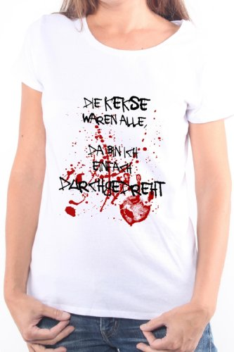 Mister Merchandise Cooles Damen T-Shirt Die Kekse Waren alle, da Bin ich einfach DURCHGEDREHT, Größe: L, Farbe: Weiß