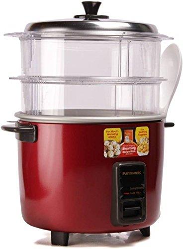 Panasonic SR-WA18H 4.4L Rice Cooker, Red, Maroon