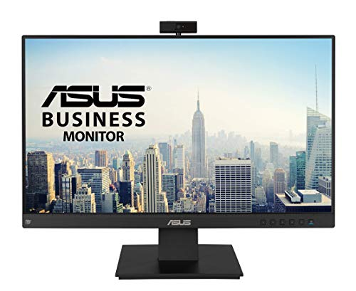 ASUS BE24EQK 60,45 cm (23,8 Zoll) Business Monitor (Full HD, inkl. Webcam, Mikrofon-Array, rahmenloses Design, Blaulichtfilter, VGA, HDMI, DisplayPort)