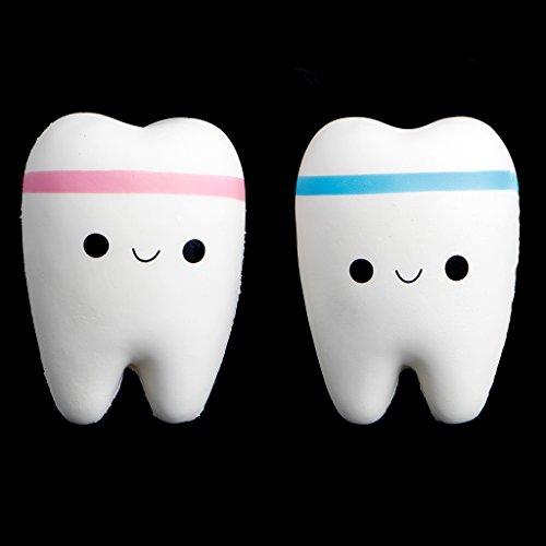 ATATMOUNT Simpatico Dente Jumbo Squishy Aumento Lento Spremere Stress Mano Giocattolo Morbido Fascino del Telefono