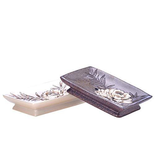 LOSYU Resina Holder Portasapone, Pastorale Stile Rettangolo Stand, Creativo cremagliera Tavolo Sapone, for Il Bagno, controsoffitto, Hotel dell'organizzatore di immagazzinaggio Rack