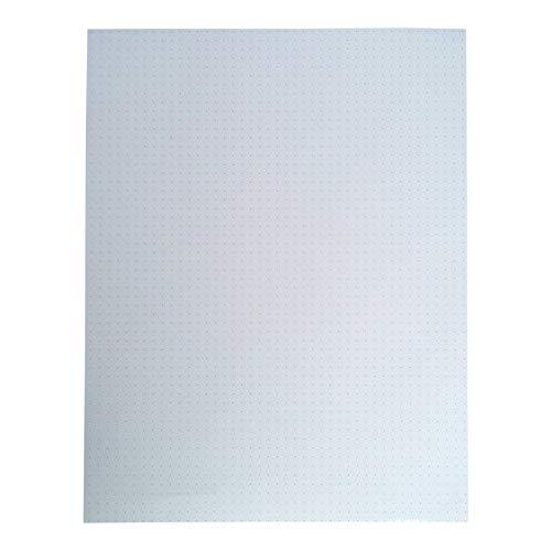 8.5 x 11 Dot Grid - WHITE - Loose Leaf Filler Paper For Ring Binder Discbound Notebook Planner Inserts - Unpunched Refills - 100 Sheets, 200 Pages, 100gsm