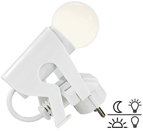 Lunartec Lampe Steckdose: Originelles LED-Nachtlicht Lustiges Kerlchen mit Dämmerungssensor (Steckerlampe)