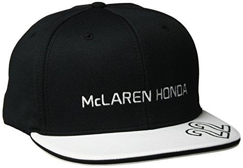 McLaren F1 Herren Honda Jenson Button Flat Peak Cap, Schwarz/Weiß, One Size