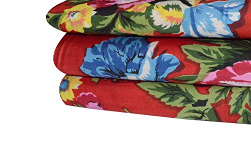 V VEDANT 디자인 인도 자연 면화 핸드 블록 인쇄 JAIPURI SANGANRI KURTI 인쇄 직물 마당 (5 야드)