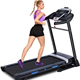ANCHEER Treadmill for Home, Folding Treadmill with Automatic Incline, Bluetooth Speaker and LCD Display, Portable Fitness Electric Treadmill Machine for Running Walking,300 LBS Max Weight