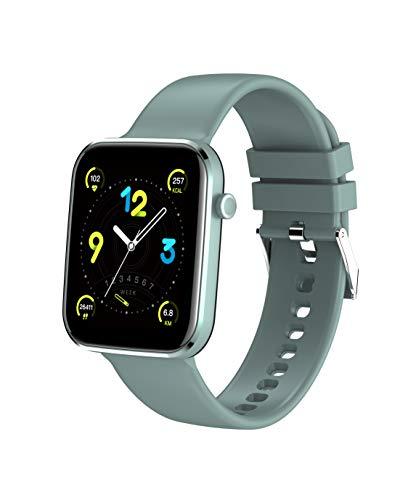"""MISIRUN Smartwarch, 1.69"""" Reloj Inteligente con Oxígeno Sanguíneo Pulsómetros, Podómetro Pulsera Actividad, Impermeable IP67 Mujer Hombr Reloj Deportivo para Android iOS(Verde)"""