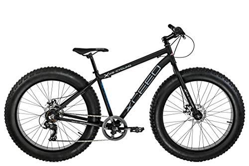 KS Cycling VTT Fatbike Semi-Rigide 26' Aluminium Hommes, Noir, 46