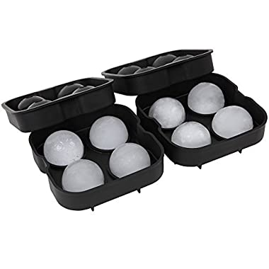 Arctic Chill - Silicone Ice Ball Mold - Keep your Whiskey Chilled and Strong (2 Inch Ice Cube Balls - 8 Spheres)