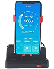 Mcbazel Automatic Steps Earning Device voor Pokemon GO/Walkr/Google Fit IOS Android Mobiele Telefoon Steps Counter Black/Red