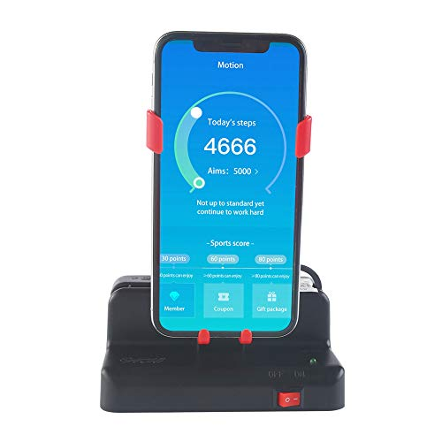 Mcbazel Automatic Steps Earning Device for Pokemon GO/Walkr/Google Fit IOS Android Mobile Phone Steps Counter Black/Red