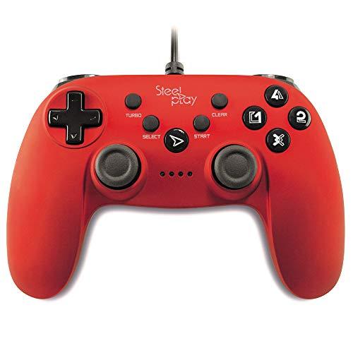 Manette filaire pour PS3 et PC - Métallique rouge