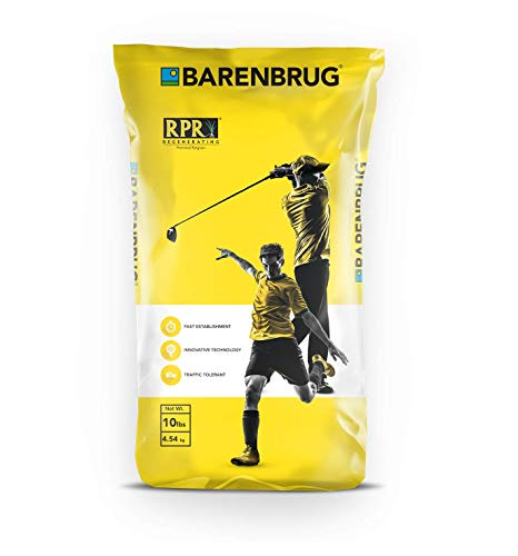 Barenbrug Turf Star Regenerating Perennial Ryegrass Grass Seed - Improve Sports Fields, Golf Courses, Parks, Home Lawn, and Yards (10 LB Bag)