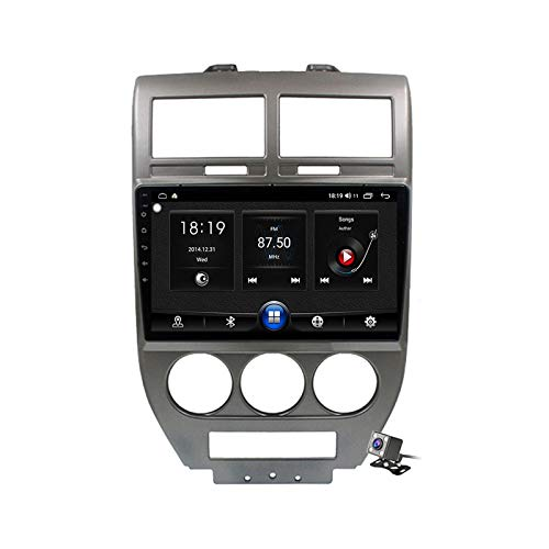 Android 10 9 Pollici Autoradio Multimediale per Jeep Compass 1 MK 2006-2010 Supporto Navigatore GPS/FM AM RDS 5G DSP/Bluetooth Vivavoce/Carplay/Controllo del Volante,7731