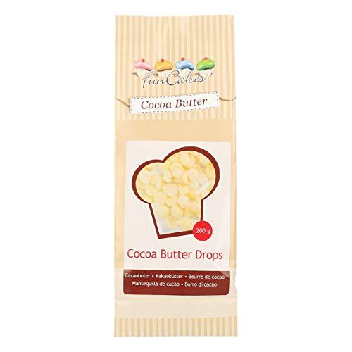 FunCakes Cacaoboter Drops: 100% plantaardig, Kan gebruikt worden bij het maken van bonbons en chocolade; Verdunt Deco…