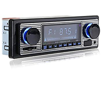 FYPLAY Classic Bluetooth Car Stereo  FM Radio Receiver Hands-Free Calling Built-in Microphone USB/SD/AUX Port Support MP3/WMA/WAV Dual Knob Audio Car Multimedia Player Remote Control