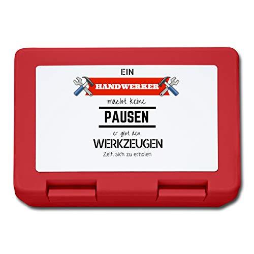 Ein Handwerker Macht Keine Pausen. Er Gibt Den Werkzeugen Zeit, Sich Zu Erholen Spruch Lunchbox, Rot