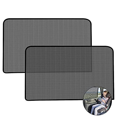 Ansontop 2 Stück 77*50cm - Seitenscheibe Sonnenschutz,UV Schutz Autofenster Sonnenschutz Auto Baby mit Saugnäpfen,für 95% der Autos,Großes Auto für Kinder mit süßen Tier Motiven( Liebe ) (D)