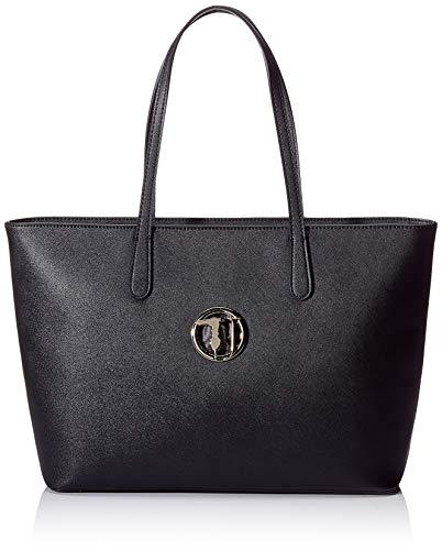 Trussardi Jeans Sophie Shopper Ew LG Ecoleath Borsa a Spalla, Nero (Black), 30x12x39 cm H x L Donna