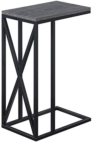 Best Convenience Concepts Tucson C End Table, Weathered Gray / Black