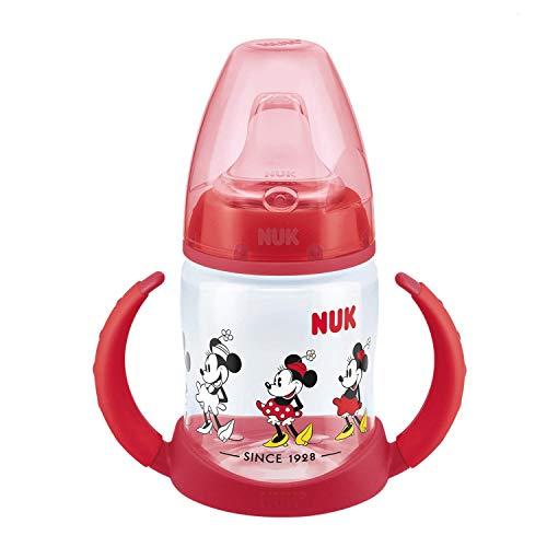 Nuk Disney Minnie Mouse Biberón aprendizaje de silicona, 150 ml, modelos aleatorios